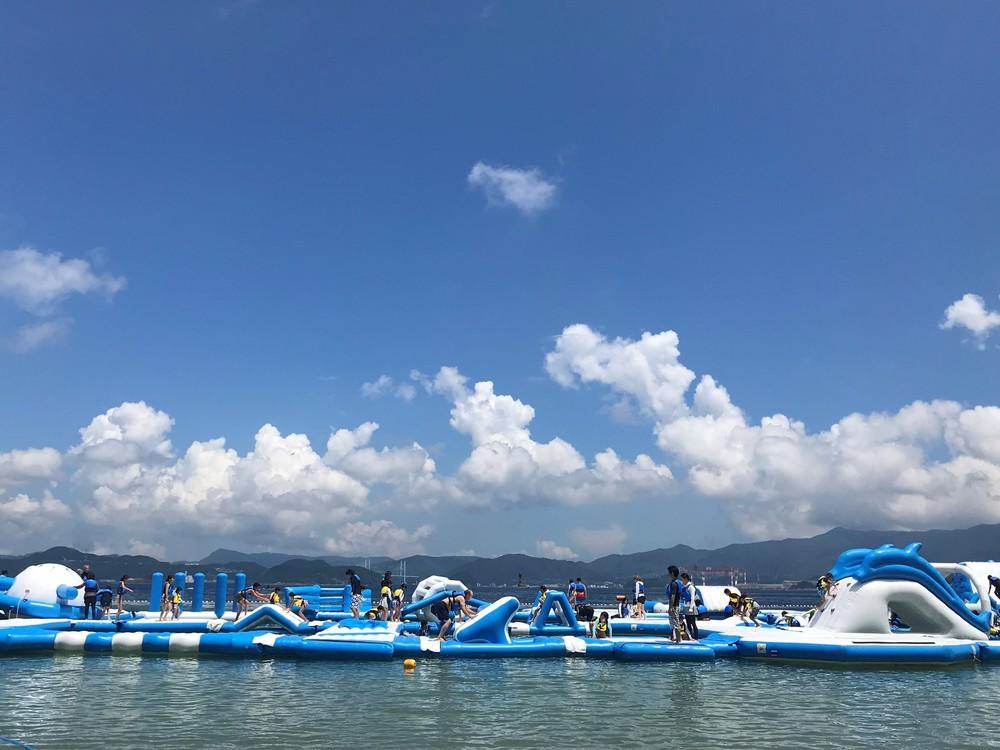 今年も登場!大人も子供も楽しめる海上アスレチック「NAGASAKI WATER ISLAND」